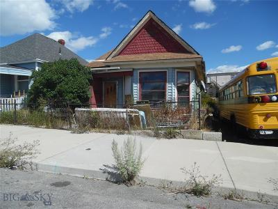 Butte Single Family Home For Sale: 620 S Dakota