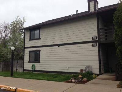 Cascade County, Lewis And Clark County, Teton County Condo/Townhouse For Sale: 1505 9th St NW #216