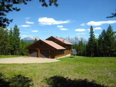 West Glacier, Polebridge Single Family Home Under Contract Taking Back-Up : 15185 North Fork Road