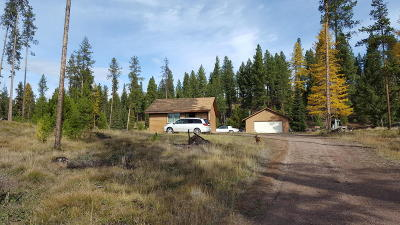 Seeley Lake MT Single Family Home Under Contract Taking Back-Up : $159,700