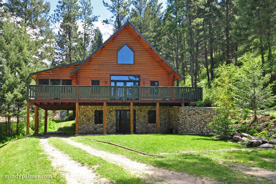 Alberton, Bonner, Clinton, Florence, Frenchtown, Greenough, Huson, Lolo, Missoula, Potomac Single Family Home For Sale: 10024 Grant Creek Road
