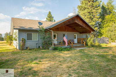 Bigfork Single Family Home Under Contract Taking Back-Up : 1415 Mt Highway 83