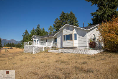 Kalispell Single Family Home Under Contract Taking Back-Up : 5355 Mt-35