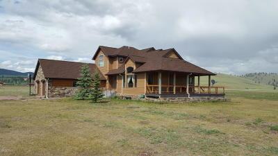 Single Family Home For Sale: 1444 Mt. Highway 83