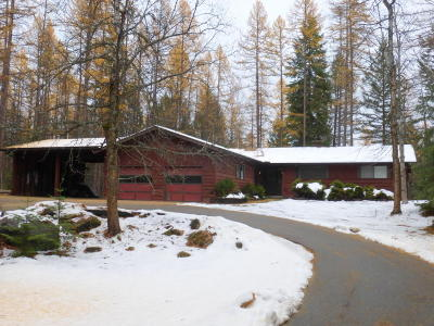 Whitefish Single Family Home For Sale: 1295 Lion Mountain Drive