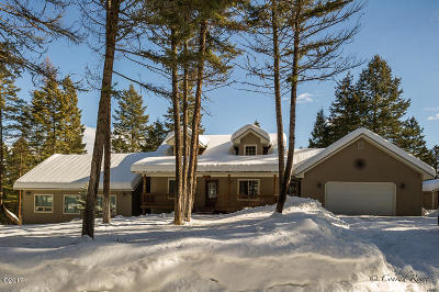 Flathead County Single Family Home For Sale: 290 Geners Trail
