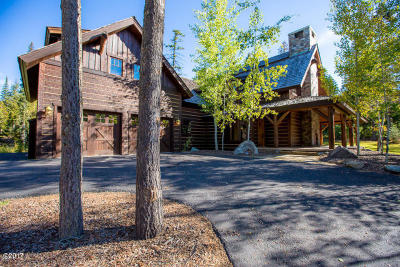 Whitefish Single Family Home Under Contract Taking Back-Up : 224 Woodlandstar Circle