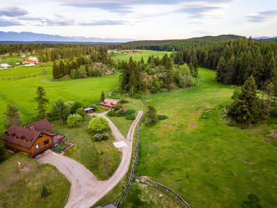 Whitefish Single Family Home For Sale: Private Tally Lake Road