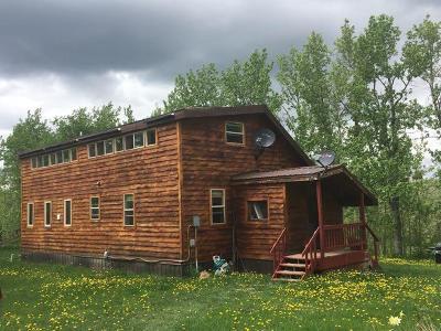 East Glacier Park Single Family Home For Sale: 87 & 93 Heart Butte Cutoff Road