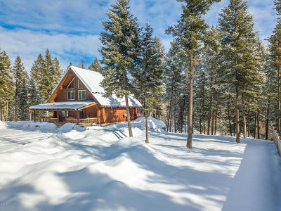 Whitefish Single Family Home Under Contract Taking Back-Up : 3977 Star Meadows Road