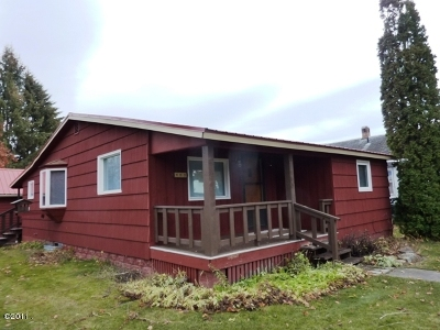 Kalispell MT Single Family Home For Sale: $185,000