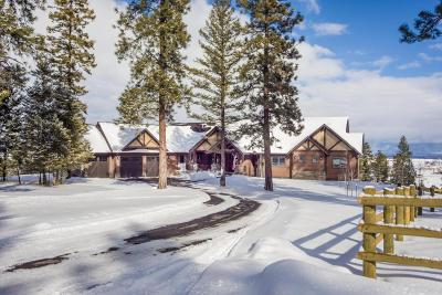 Kalispell Single Family Home Under Contract Taking Back-Up : 430 Sheepherder Hill Road