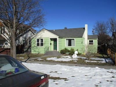 Missoula Single Family Home Under Contract Taking Back-Up : 1136 South 4th Street West