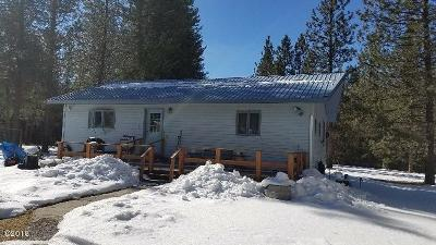 Mineral County Single Family Home Under Contract Taking Back-Up : 7553 Mullan Road East