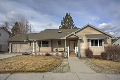 Missoula Single Family Home Under Contract Taking Back-Up : 5255 Dorothy Court