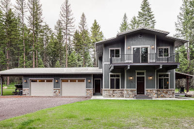 Whitefish Single Family Home Under Contract Taking Back-Up : 259 Hidden Ridge Trail