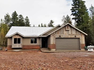 Seeley Lake MT Single Family Home For Sale: $299,995