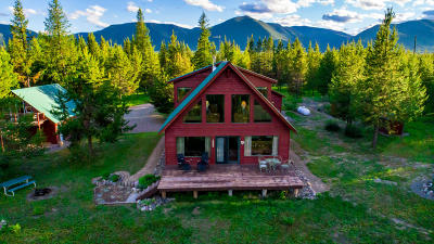 West Glacier, Polebridge Single Family Home For Sale: 1888 Paradise Ridge Trail