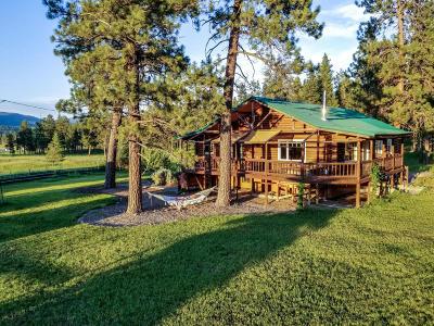 Alberton, Bonner, Clinton, Florence, Frenchtown, Greenough, Huson, Lolo, Missoula, Potomac Single Family Home For Sale: 27597 Blixit Creek Road
