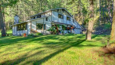 Missoula Single Family Home Under Contract Taking Back-Up : 7600 Rattlesnake Gulch