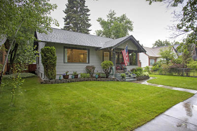 Missoula Single Family Home Under Contract Taking Back-Up : 425 Plymouth Street