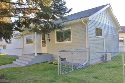 Missoula Single Family Home Under Contract Taking Back-Up : 1403 South Garfield Street
