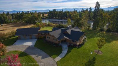 Ravalli County Single Family Home For Sale: 4356 Ross Island Way