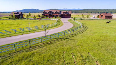 Whitefish Single Family Home For Sale: 1729 Spring Prairie Ranch Road