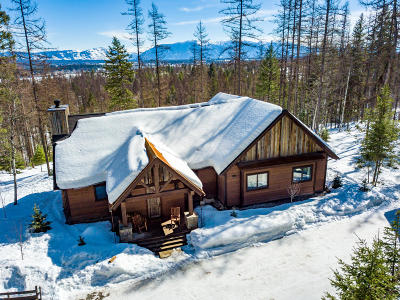 Whitefish Single Family Home Under Contract Taking Back-Up : 1250 Lion Mountain Drive