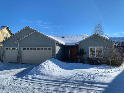 Missoula Single Family Home Under Contract Taking Back-Up : 5209 Dutton Court