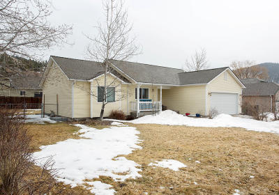 Missoula Single Family Home Under Contract Taking Back-Up : 4010 Fieldstone Crossing