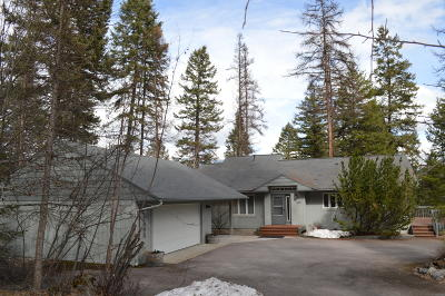 Whitefish Single Family Home Under Contract Taking Back-Up : 1495 Lion Mountain Drive