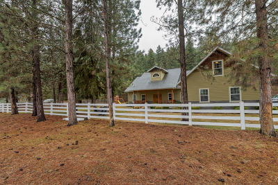 Missoula Single Family Home Under Contract Taking Back-Up : 1297 Big Flat Road