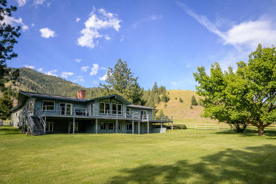 Missoula Single Family Home For Sale: 10365 Miller Creek Road