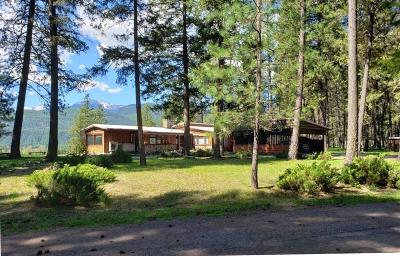 Lincoln County Single Family Home Under Contract Taking Back-Up : 1511 Kootenai River Road