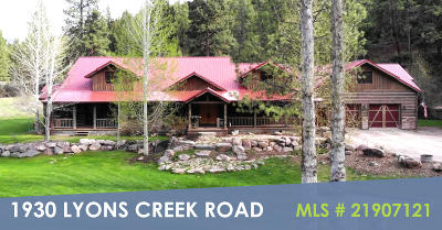 Wolf Creek Single Family Home For Sale: 1930 Lyons Creek Road