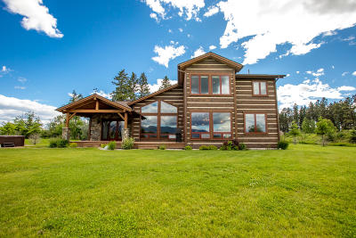 Kalispell Single Family Home Under Contract Taking Back-Up : 1565 Lower Valley Road