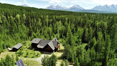 West Glacier, Polebridge Single Family Home Under Contract Taking Back-Up : 1055 Trail Creek Road