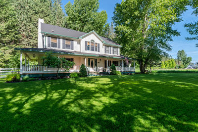 Missoula Single Family Home Under Contract Taking Back-Up : 1905 Big Flat Road