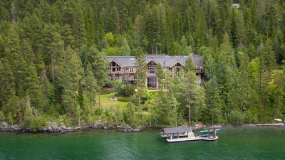 Bigfork Single Family Home For Sale: Eagle's Rest On Flathead Lake