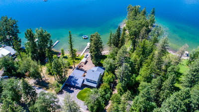Flathead County Single Family Home Under Contract Taking Back-Up : 1665 Lake Blaine Road