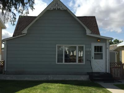 Conrad Single Family Home For Sale: 104 North Front Street