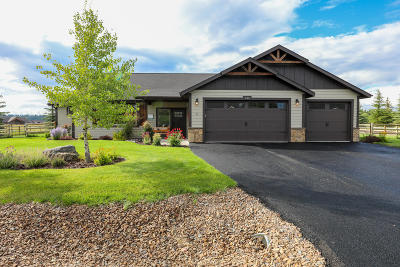 Kalispell Single Family Home Under Contract Taking Back-Up : 243 Whispering Meadows Trail