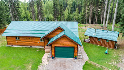 West Glacier, Polebridge Single Family Home Under Contract Taking Back-Up : 720 Deep Woods Trail