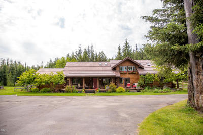 Flathead County Single Family Home For Sale: 800 Old Fort Steele Trail