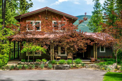 Whitefish Single Family Home Under Contract Taking Back-Up : 859 Delrey Road