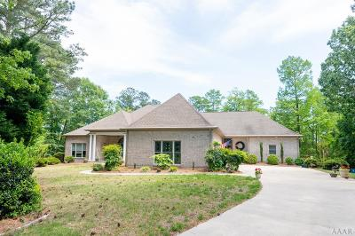 Perquimans County Single Family Home For Sale: 108 Little River Circle