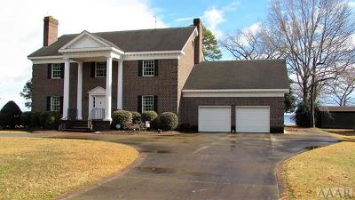 Pasquotank County Single Family Home For Sale: 2127 Rivershore Road