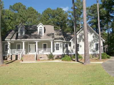 Perquimans County Single Family Home For Sale: 107 Green Court East