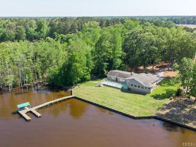 Perquimans County Single Family Home For Sale: 183 Halsey Bay Road